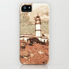 Lighthouse, Faro Ses Salines iPhone Case