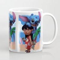 lilo and stitch Mugs featuring Lilo & Stitch by Archiri Usagi