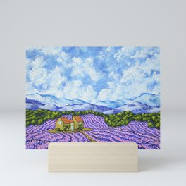 Lavender Farm Mini Art Print