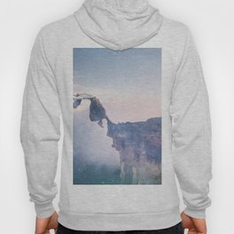 Falling Stars Surreal Levitation Off an Australian Cliff-Stars and a Levatating Woman Hoody