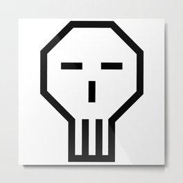 CCR Skull Metal Print