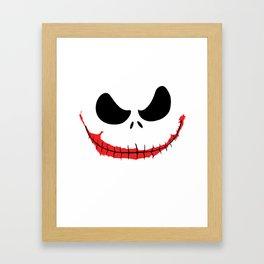 Joke Skellington Framed Art Print
