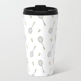 Badminton sport pattern Travel Mug