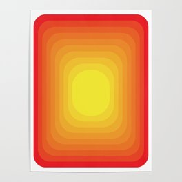 Gradient Sun Abstract Vintage Pattern Geometric Poster