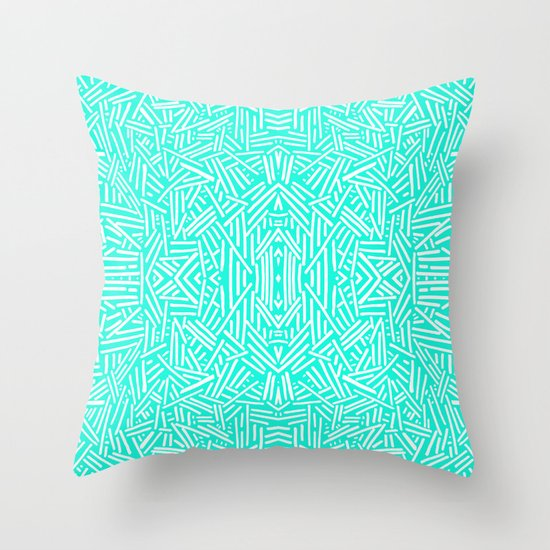 Radiate (Mint) Throw Pillow