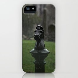 Hitching Post in the Rain iPhone Case