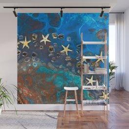 Blue Sea Starfish Wall Mural