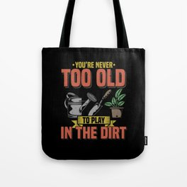 Funny Gardening T Shirts lawn mover plants Tote Bag