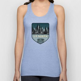 Up North at Night Unisex Tank Top