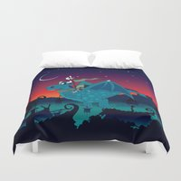 watch Duvet Covers featuring Night watch by mangulica illustrations