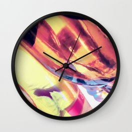 Abstract Art from Macro Photography, Glass Manipulation Wall Clock