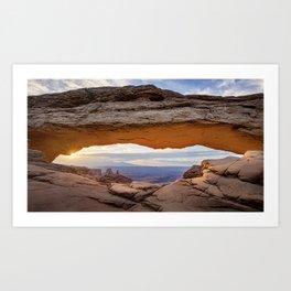 Mesa Arch Sunrise   5-16-17  Art Print