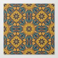 Floral mandala abstract pattern design Canvas Print