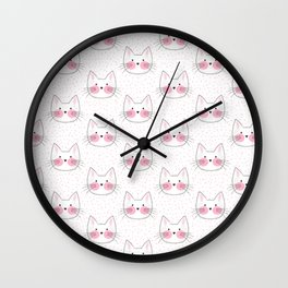 Sweet Little Japanese Kittens Wall Clock