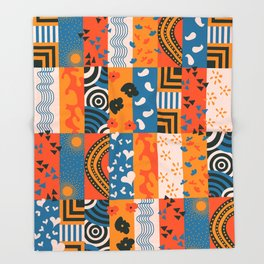 Abstract 01 Throw Blanket