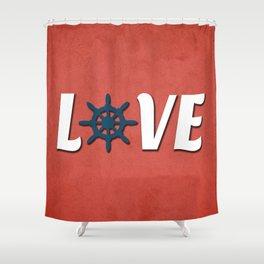 Love nautical design Shower Curtain