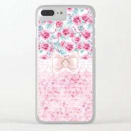 Dream Roses Clear iPhone Case