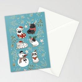 Christmas French Bulldog Stationery Cards