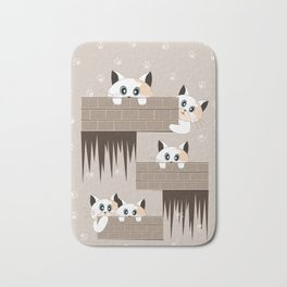Curious Cat Bath Mat