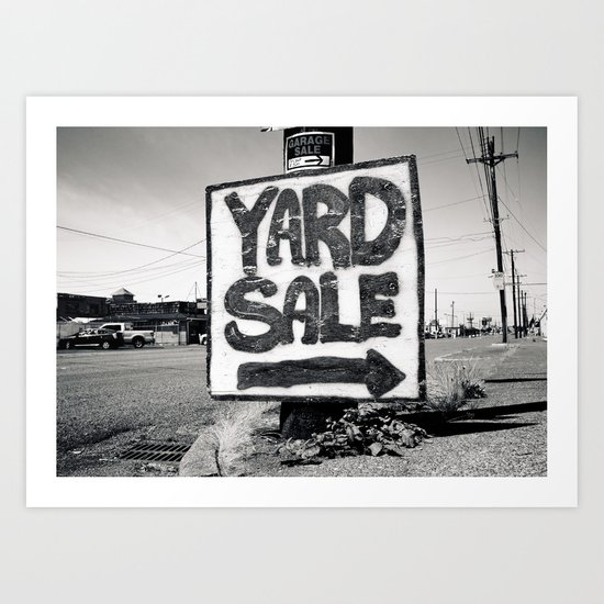 Yard sale sign Art Print
