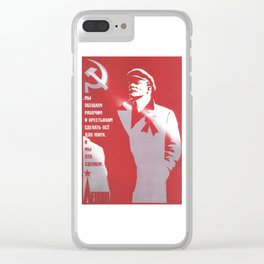 Russia, URSS Vintage Poster (8) Clear iPhone Case