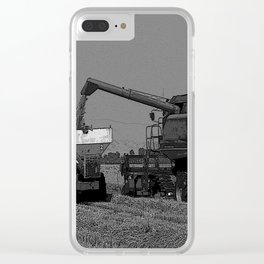 Black & White Rice Harvest Pencil Drawing Photo Clear iPhone Case