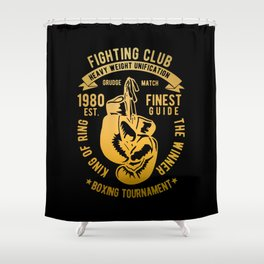 fighting club heavy weight unification Shower Curtain