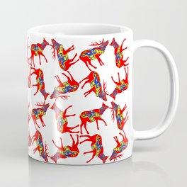 Graphic Swedish Dala Elk Pair Multiples Coffee Mug