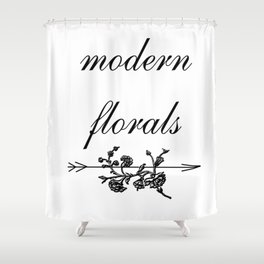 modern florals 2 . Home Decor Graphicdesign Shower Curtain