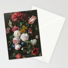 Flowers in a Glass Vase Stationery Cards
