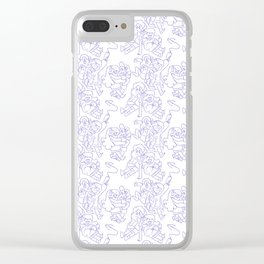Dipper and Mabel Pattern Clear iPhone Case