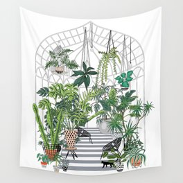 greenhouse illustration Wall Tapestry