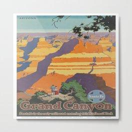 Vintage poster - Grand Canyon Metal Print