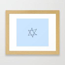 Star of David 19- Jerusalem -יְרוּשָׁלַיִם,israel,hebrew,judaism,jew,david,magen david Framed Art Print