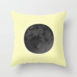 BLACK MOON + CANARY YELLOW SKY Throw Pillow
