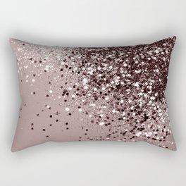 Sparkling Mauve Lady Glitter #1 #shiny #decor #art #society6 Rectangular Pillow