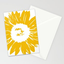 Sunflower Whimsical Bold Abstract Original Graphic Design Stationery Cards