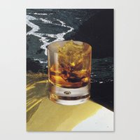 whiskey Canvas Prints featuring whiskey by Mirawek Wolff