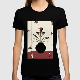 Windswept Irises - Crimson T-shirt