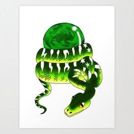 Snake Piece #32 - Magic Materia Art Print