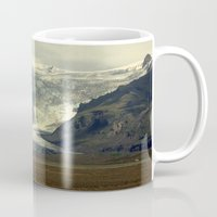 iceland Mugs featuring Iceland Glacier  by Factory23