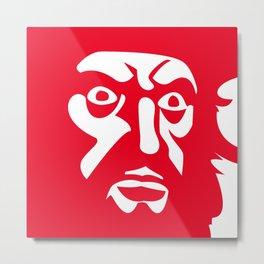 RED BLCKBRD Metal Print
