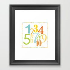 Numbers Square - Sandbox colorway Framed Art Print