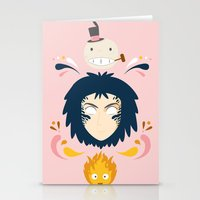 calcifer Stationery Cards featuring Howl by Ashley Hay