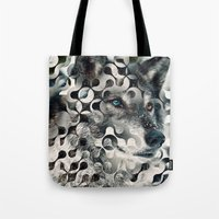 into the wild Tote Bags featuring wild by Vin Zzep