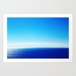 sky and sea Art Print