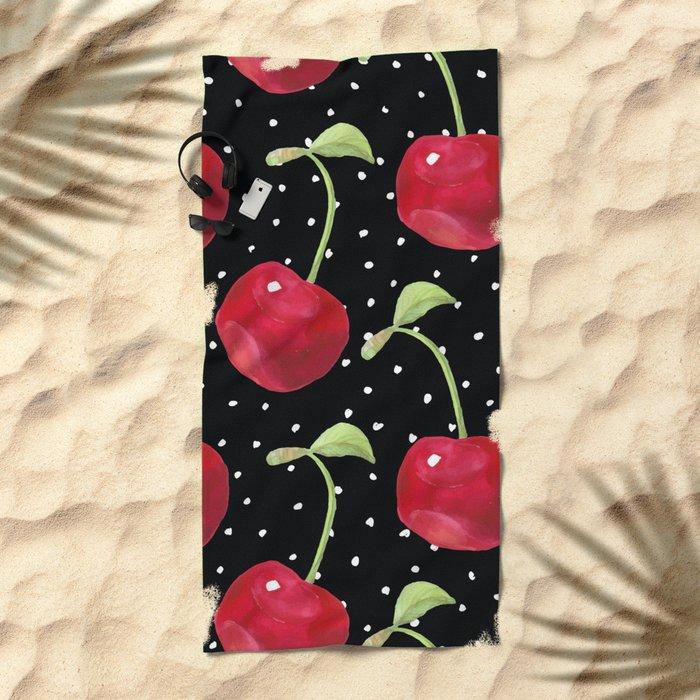 Cherry pattern III Beach Towel