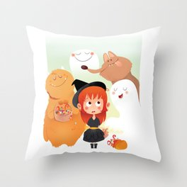 HALLOWEEN- trick ot treat? Throw Pillow