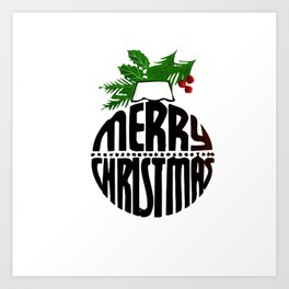 Christmas art Art Print