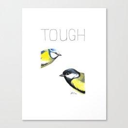 Tough Tits (Blue Tit & Great Tit) Canvas Print